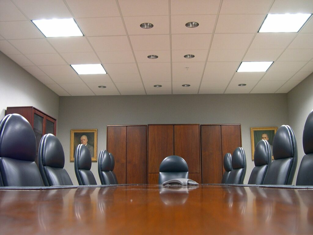meeting room, board room, conference hall